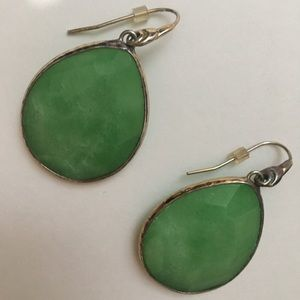 Used Stella & Dot Drop Emerald Earrings